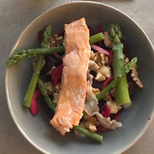 asparagud and salmon